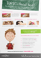 Educational poster about lice - image